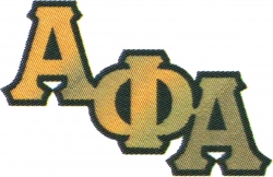 View Buying Options For The Alpha Phi Alpha Big Letter Mirror Lapel Pin