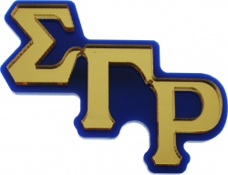 View Buying Options For The Sigma Gamma Rho Large Letter Mirror Lapel Pin