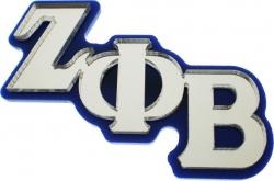 View Buying Options For The Zeta Phi Beta Large Letter Mirror Lapel Pin