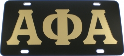 View Buying Options For The Alpha Phi Alpha Inlaid Mirror License Plate