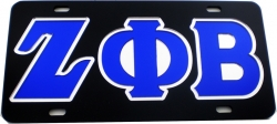 View Buying Options For The Zeta Phi Beta Outlined Mirror License Plate