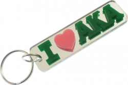 View Buying Options For The Alpha Kappa Alpha I Heart Mirror Keychain
