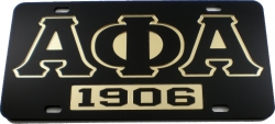 View Buying Options For The Alpha Phi Alpha 1906 Mirror Insert Car Tag License Plate