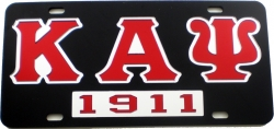 View Buying Options For The Kappa Alpha Psi 1911 Mirror Insert Car Tag License Plate