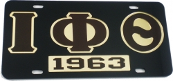 View Buying Options For The Iota Phi Theta 1963 Mirror Insert Car Tag License Plate