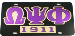 View Buying Options For The Omega Psi Phi 1911 Mirror Insert Car Tag License Plate