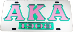 View Buying Options For The Alpha Kappa Alpha 1908 Mirror Insert Car Tag License Plate