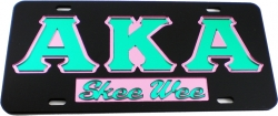 View Buying Options For The Alpha Kappa Alpha Skee Wee Mirror Insert Car Tag License Plate