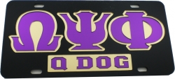 View Buying Options For The Omega Psi Phi Q Dog Mirror Insert Car Tag License Plate