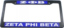 View Buying Options For The Zeta Phi Beta Plastic License Plate Frame