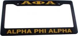 View Buying Options For The Alpha Phi Alpha Plastic License Plate Frame