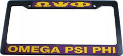 View Buying Options For The Omega Psi Phi Plastic License Plate Frame