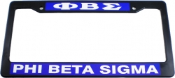View Buying Options For The Phi Beta Sigma Plastic License Plate Frame
