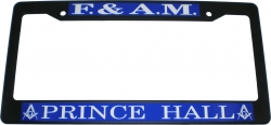 View Buying Options For The Prince Hall Mason Plastic License Plate Frame