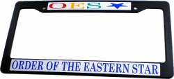 View Buying Options For The Eastern Star Plastic License Plate Frame