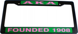 View Buying Options For The Alpha Kappa Alpha Founded 1908 Plastic License Plate Frame
