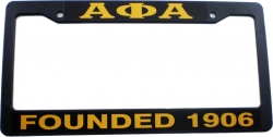 View Buying Options For The Alpha Phi Alpha Founded 1906 Plastic License Plate Frame