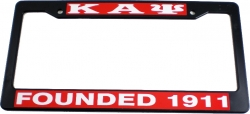 View Buying Options For The Kappa Alpha Psi Founded 1911 Plastic License Plate Frame