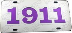 View Buying Options For The Omega Psi Phi 1911 Ghost Back Letters Car Tag License Plate