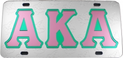 View Buying Options For The Alpha Kappa Alpha Ghost Back Leaf Car Tag License Plate