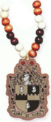 View Buying Options For The Alpha Phi Alpha Wood Bead Tiki Shield Decal Necklace