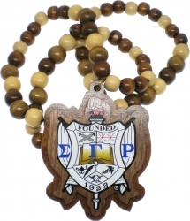 View Buying Options For The Sigma Gamma Rho Wood Bead Tiki Crest Decal Necklace