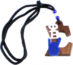 View Buying Options For The Phi Beta Sigma Wood Big Letter Hand Sign Symbol Medallion