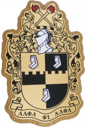View Buying Options For The Alpha Phi Alpha Domed Wood Shield Wall Plaque