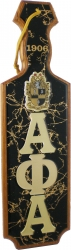 View Buying Options For The Alpha Phi Alpha Raised Mirror Letters & Shield Domed Paddle