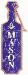 View Buying Options For The Mason Raised Mirror Letters & Symbol Domed Paddle