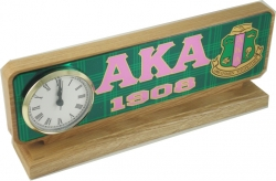 View Buying Options For The Alpha Kappa Alpha Domed Desktop Clock