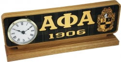 View Buying Options For The Alpha Phi Alpha Domed Desktop Clock