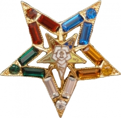 View Buying Options For The Eastern Star Symbol Jeweled Cut-Out Lapel Pin