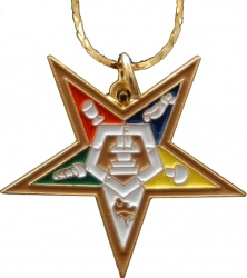 View Buying Options For The Eastern Star Symbol Pendant with Chain