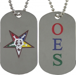 View Buying Options For The Eastern Star Double Sided Dog Tag