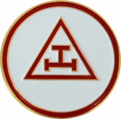 View Buying Options For The Mason Triple Tau Royal Arch Symbol Round Car Emblem