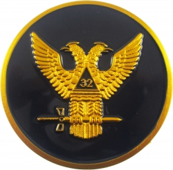 View Buying Options For The Scottish Rite 32nd Degree Wings Up Round Car Emblem