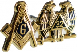 View Buying Options For The Mason + Scottish Rite 32nd Degree Double Duty Lapel Pin