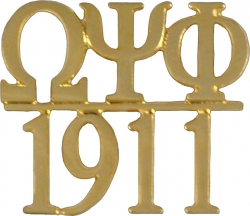 View Buying Options For The Omega Psi Phi 1911 Chapter Bar Lapel Pin