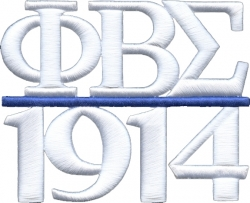 View Buying Options For The Phi Beta Sigma 1914 3D Chapter Style Iron-On Patch