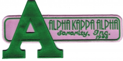 View Buying Options For The Alpha Kappa Alpha Big Letter Retro Satin Tackle Twill Iron-On Patch