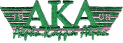 View Buying Options For The Alpha Kappa Alpha 2-Tone 3-N-1 Wing Design Iron-On Patch