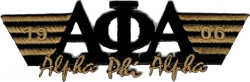 View Buying Options For The Alpha Phi Alpha 2-Tone 3-N-1 Wing Design Iron-On Patch