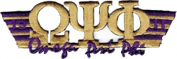 View Buying Options For The Omega Psi Phi 2-Tone 3-N-1 Wing Design Iron-On Patch