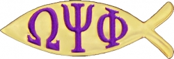View Buying Options For The Omega Psi Phi Fish Lapel Pin