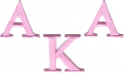 View Buying Options For The Alpha Kappa Alpha Letter Iron-On Patch Set