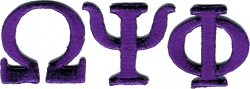 View Buying Options For The Omega Psi Phi Small Letter Iron-On Patch Set