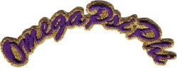 View Buying Options For The Omega Psi Phi Script Mini Rocker Iron-On Patch
