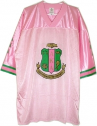 View Buying Options For The Alpha Kappa Alpha Crest Mesh Football Jersey