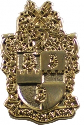 View Buying Options For The Alpha Phi Alpha Polished Sandblasted Shield Lapel Pin